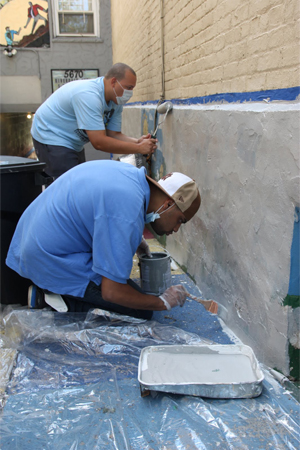 Michael and Ishmael Painting