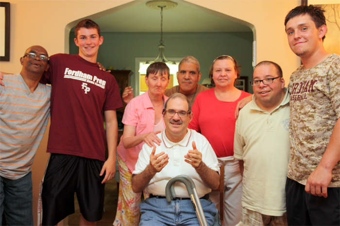 John and Alex with Residents
